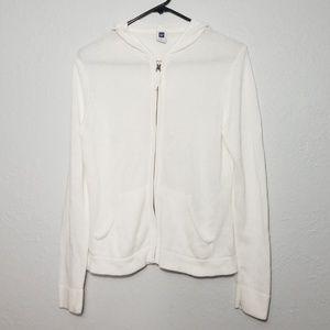 Gap Womens Medium White Linen Blend Sweater